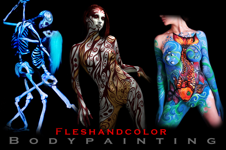 Body Painting By Fleshandcolor San Diego Los Angeles L A